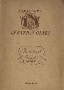 Państwowy Teatr Polski : program : sezon 1948/9