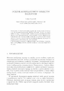 Uczenie komparatorów obiektów złożonych