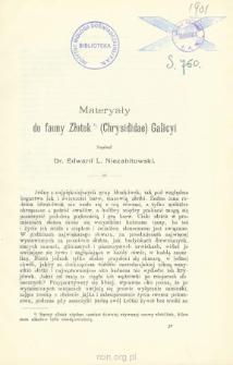 Materyały do fauny Złotek (Chrysididae) Galicyi