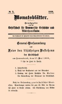 Monatsblätter Jhrg. 13, H. 5 (1899)