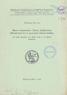 Nowe stanowisko brzozy karłowatej (Betula nana L.) w powiecie święciańskim = Ein neuer Standort von Betula nana L. im Kreise Święciany