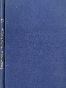 Sprawozdania Archeologiczne T. 8 (1959), Spis treści