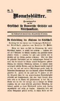 Monatsblätter Jhrg. 13, H. 7 (1899)