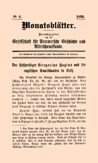 Monatsblätter Jhrg. 13, H. 8 (1899)