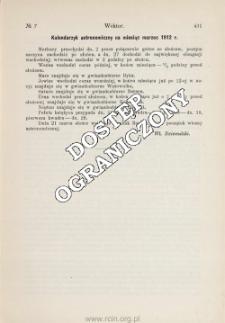 Kalendarzyk astronomiczny na miesiąc marzec 1912 r.