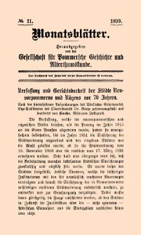 Monatsblätter Jhrg. 13, H. 11 (1899)