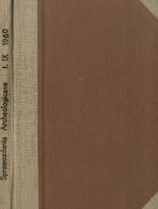 Sprawozdanie z badań powierzchniowych w Samborcu, pow. Sandomierz, w 1957 r