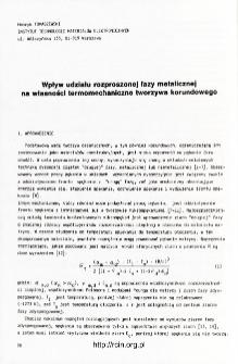 Wpływ udziału rozproszonej fazy metalicznej na własności termomechaniczne tworzywa korundowego