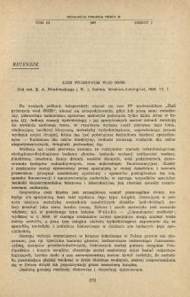 Żizń priesnych wod SSSR. Pod red. E. A. Pawłowskiego i W. I. Żadina. Moskwa-Leningrad, 1956. IV, 1.