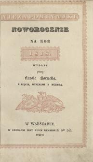 Niezapominajki : noworocznik na rok 1838
