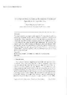 On Computational Problems in the Analysis of Statistical Dependence for Imprecise Data
