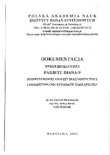 Wersja edukacyjna pakietu DIANA-9 dla uczelni.
