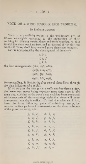 Note on the theory of functions