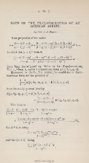 Proof of a theorem in the theory of numbers