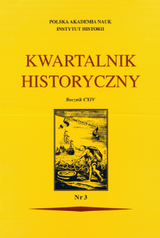 Kwartalnik Historyczny R. 114 nr 3 (2007), Title pages, Contents