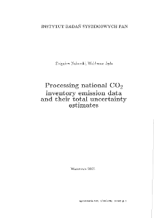 Processing National CO 2 Inventory Emission Data and their Total Uncertainty Estimates