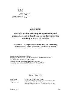 Proposals of Effective Ways for Uncertainty Reduction in the Polish Greenhouse Gas Inventory System