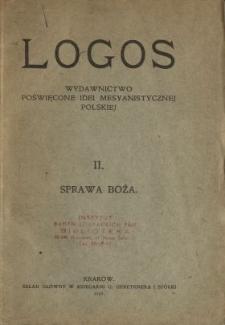 Logos : wydawnictwo poświęcone idei mesyanistycznej polskiej. nr 2, Sprawa boża