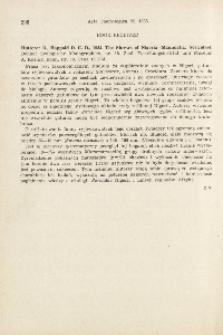 Book received. R. Hutterer, D. C. D. Happold, 1983: The shrews of Nigeria (Mammalia: Soricidae). Bonner Zoologische Monographien, nr 18. Zool. Forschungsinstitut und Museum A. Koenig, Bonn, 79 pp