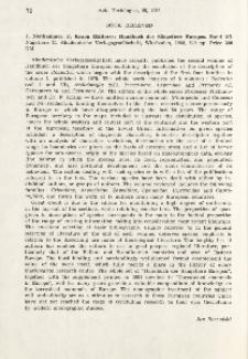 Book received. J. Niethammer, F. Krapp (ed.), 1982: Handbuch der Säugetiere Europas. Band 2/1. Nagetiere II. Akademische Verlagsgesellschaft, Wiesbaden, 649 pp