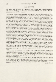 Book received. G. C. White, D. R. Anderson, K. P. Burnham, D. L. Otis, 1982: Capture-recapture and removal methods for sampling closed populations. Los Alamos National Laboratory, Los Almos, 235 pp