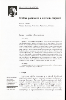 Synteza polimerów z użyciem enzymów
