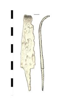 knife, fragment, iron