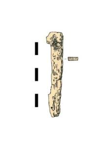 nail, iron, fragment