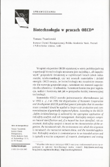 Biotechnologia w pracach OECD