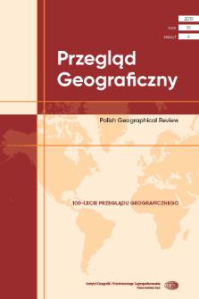 Przegląd Geograficzny T. 91 z. 4 (2019), Spis treści