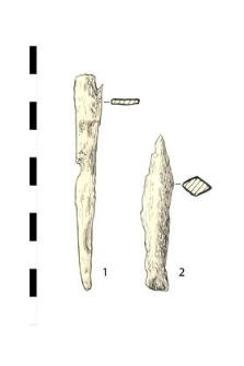 1. nail, iron, fragment