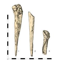 1. atitching awl, bone