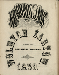 Noworocznik Wolnych Żartów 1859