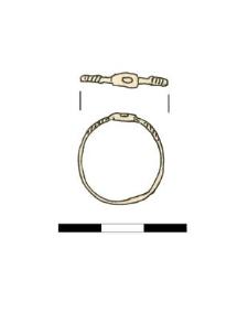 pierścionek, brązowy