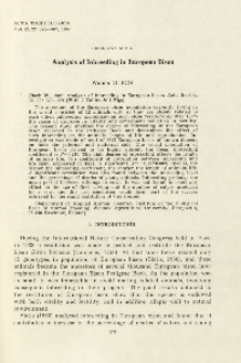 Bisoniana XCVIII. Analysis of inbreeding in European bison