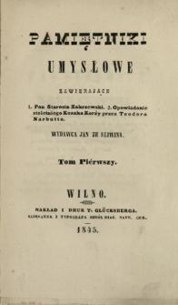 Pamiętniki Umysłowe 1845 T.1