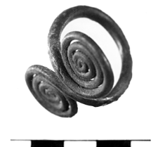 ring with two spiral discs (Stawiszyce) - chemical analysis