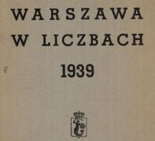 Warszawa w liczbach : 1939