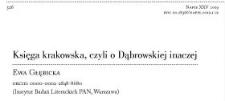 Księga krakowska, czyli o Dąbrowskiej inaczej
