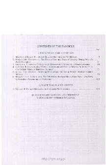 Pamiętnik Literacki Z. 1 (2007), Contents of fascicle