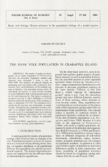 The bank vole population in Crabapple Island