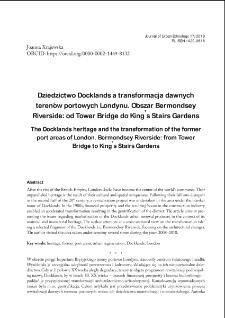 Dziedzictwo Docklands a transformacja dawnych terenów portowych Londynu. Obszar Bermondsey Riverside: od Tower Bridge do King's Stairs Gardens