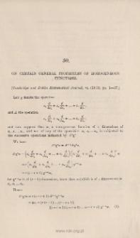 On certain general properties of homogeneous functions