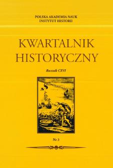 Kwartalnik Historyczny. R. 116 nr 3 (2009), Strony tytułowe, spis tresci