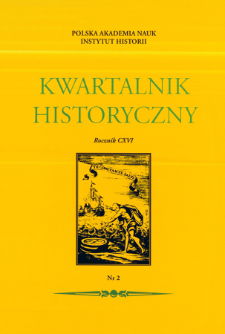 Kwartalnik Historyczny R. 116 nr 2 (2009), Title pages, Contents