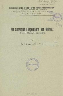 Die subalpine Fliegenfauna von Reinerz (Glatzer Gebirge, Schlesien)