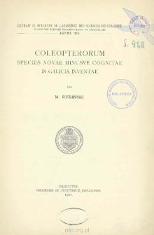 Coleopterorum species novae minusve cognitae in Galicia inventae. [Cz. 2]