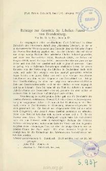 Beiträge zur Kenntnis der Libellen-Fauna von Brandenburg