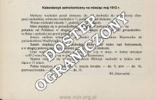 Kalendarzyk astronomiczny na miesiąc maj 1912 r.