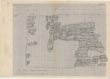 KZG, VI 502 C, plan archeologiczny wykopu, konstrukcje drewniane